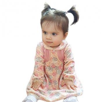 Платье для девочки SMIL, возраст от 2 до 6 лет, нежно-розовое с рисунком