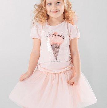 Юбка для девочки, розовая, SMIL