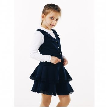 Юбка для девочки Smil 120231 темно-синий