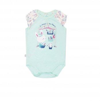 Бодик-футболка для девочки Smil Кошки-мышки Ментоловый 121059