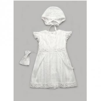 Крестильный набор для девочки Модный карапуз Белый 03-01010
