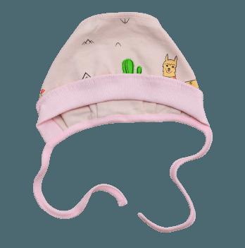 Шапочка для новорожденного Minikin I Like 0-3 месяца Лама 208903