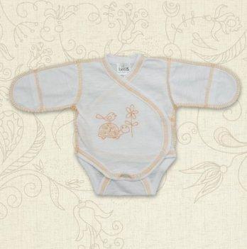 Боди для маловесных малышей, Бетис Черепашка, с вышивкой, оранжевый