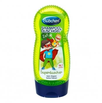 Шампунь и гель для душа детский Bubchen Супергерой, 230 мл