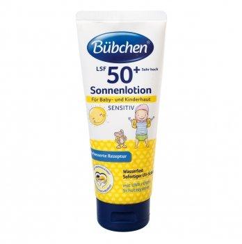 Солнцезащитное молочко для детской кожи Bubchen Sensitive SPF 50+, 100 мл
