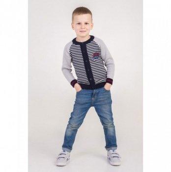 Кофта ТМ Lutik для мальчика, в горизонтальную полоску