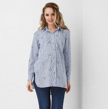 Рубашка для беременных и кормящих мам Dianora джинс 1922 1081