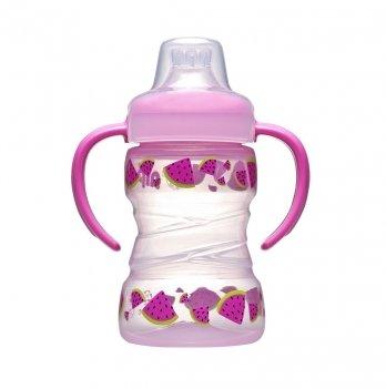 Поильник для девочки NIР, Trainer cup, с мягким носиком, PET-Box, 260 мл