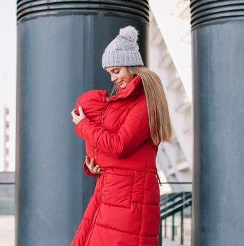 Куртка зимняя для беременных и слингоношения Love & Carry® Красная
