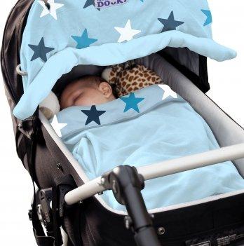 Защитная накидка на коляску и автокресло Dooky Baby - Blue Stars