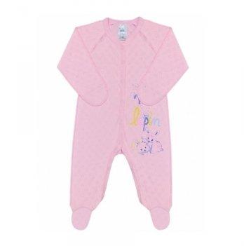 Комбинезон розовый, возраст от 0 до 3 месяцев, SMIL