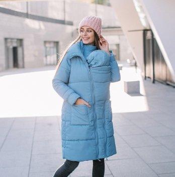 Куртка зимняя для беременных и слингоношения Love & Carry® Блу