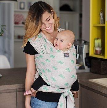 Трикотажный слинг-шарф Love & Carry Кактусы