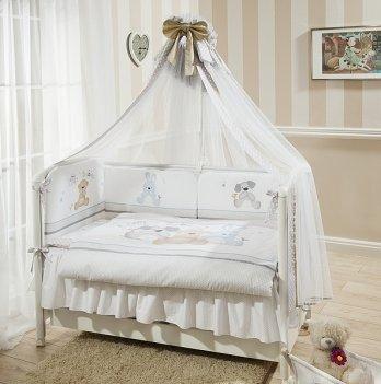 Комплект постельного белья для кроватки Perina Венеция Три Друга из 3, 4, 6, 7 элементов