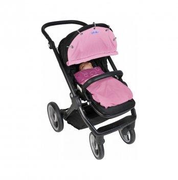 Защитная накидка на коляску и автокресло Dooky Baby - Baby Pink
