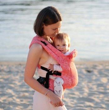 Эрго-рюкзак Love & Carry DLIGHT из шарфовой ткани Флора