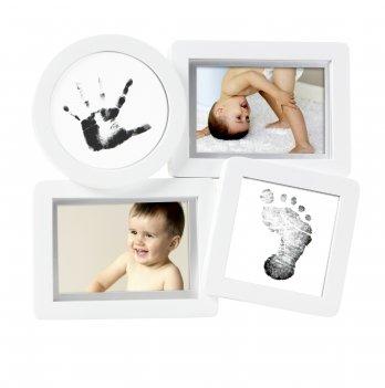 Рамочка для фото и чернильного отпечатка Pearhead, 4 окошка