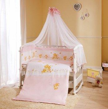 Комплект постельного белья для кроватки Perina Фея Розовое Лето из 3, 4, 6, 7 элементов