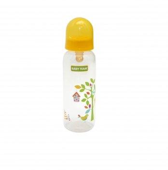 Бутылочка с латексной соской 0+ Baby Team 1310 желтый 250 мл