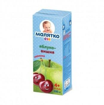 Сок Orhei-Vit Малятко яблочно-вишневый 200 мл