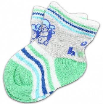 Носки в полоску салатово-синие, Brums Italy