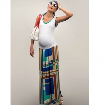 Юбка-макси для беременных Dianora разноцветная 1327 0788