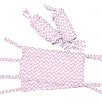 Защитные бортики для кровати GoforKid Пинк 4 секции, хлопок, розовый