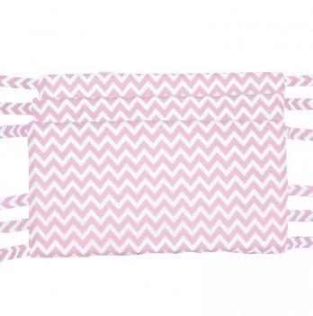 Защитные бортики для кровати GoforKid Пинк 3 секции, хлопок, розовый
