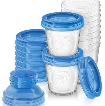 Контейнеры AVENT для хранения молока 180 мл, 10 шт
