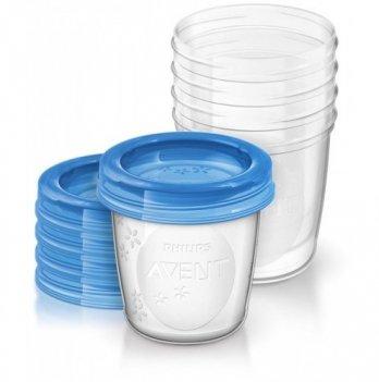 Контейнеры AVENT для хранения грудного молока 5 шт x 180 мл, 5 крышек