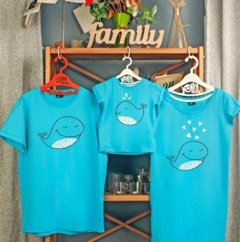 Фэмили лук, семейный Jolly Bully Семья китов, платье+футболки, сын