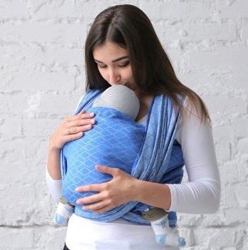 Тканный слинг-шарф Love & Carry Море