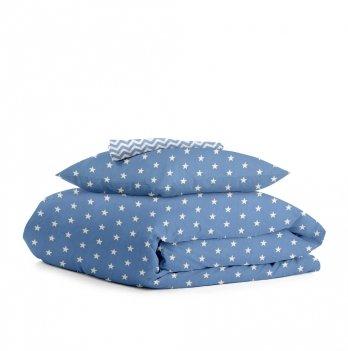 Комплект постельного белья Cosas Stars Zigzag blue 3 предмета