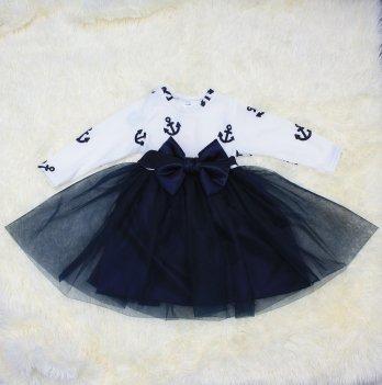 Платье PaMaYa Бело-синий 14-43-98