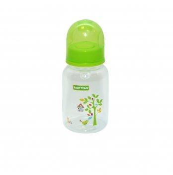 Бутылочка с силиконовой соской 0+ Baby Team 1400 салатовый 125 мл