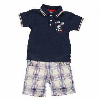 Костюм футболка и шортики Brums Polo синий
