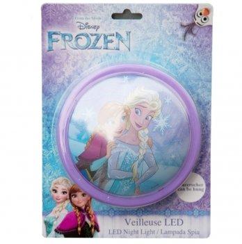 Настенный светильник-ночник, Disney Sun City Холодное сердце, светодиодный, фиолетовый