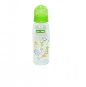 Бутылочка с силиконовой соской 0+ Baby Team 1410 салатовый 250 мл