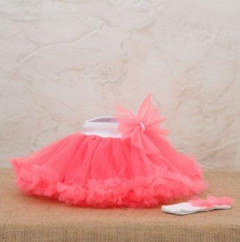 Костюм для девочки (юбка и повязка) Бетис, Веселка, коралловый