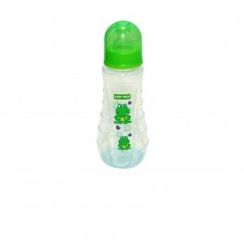 Бутылочка с силиконовой соской 0+ Baby Team 1412 лягушонок 250 мл