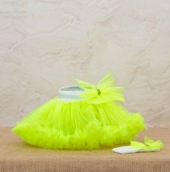 Костюм для девочки (юбка и повязка) Бетис, Веселка, салатовый
