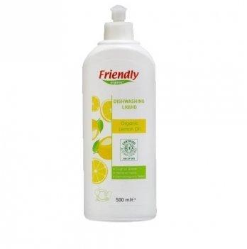 Средство для мытья посуды Friendly Organic, Dishwashing Liquid Lemon, с лимонным соком, 500 мл