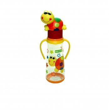 Бутылочка с ручками и силиконовой соской 0+ Baby Team 1414 черепаха 250 мл