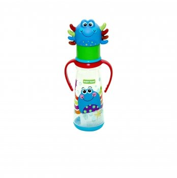 Бутылочка с ручками и силиконовой соской 0+ Baby Team 1414 краб 250 мл