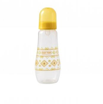 Бутылочка с силиконовой соской 0+ Baby Team 1415 желтый 300 мл