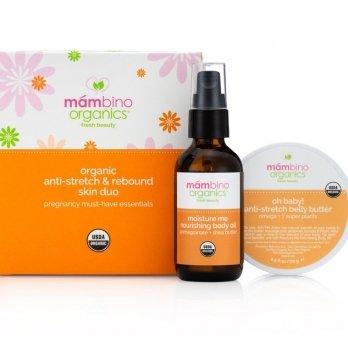 Набор против растяжек и для придания упругости коже TM Mambino Organics 60 мл + 70 г