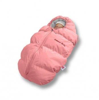 Пуховый конверт зима+деми Baby Born Ontario Baby ART-0000325 розовый