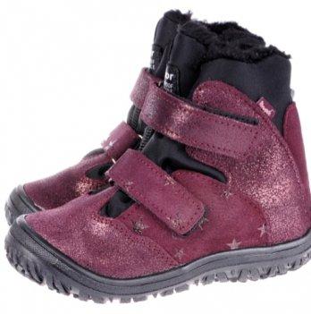 Ботинки зима Звездочка  Mrugala бордовые