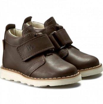 Ботинки дизайнерские кожаные демисезонные Mrugala коричневые