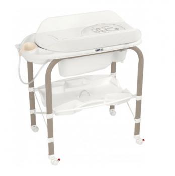 Пеленальный столик CAM Cambio, с ванночкой, молочный